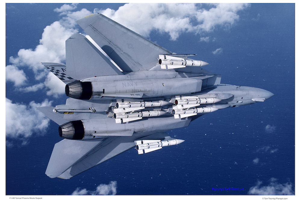 F-14B with Phoenix missiles