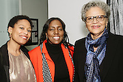NEW YORK - March 27: Regine Roumain, Linda M. Mellon (Director of Friends of FOKAL), and Michèle Pierre-Louis (Former Prime Minister of Haiti and President of FOKAL) at FOKAL's The Promise of Haiti II Event. Photographed March 27, 2015 at the Medici Group in NY, NY. 2015 © Cat Laine.