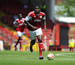 Bristol City's Jay Emmanuel-Thomas - Photo mandatory by-line: Joe Meredith/JMP - Tel: Mobile: 07966 386802 13/07/2013 - SPORT - FOOTBALL - Bristol -  Bristol City v Glasgow Rangers - Pre Season Friendly - Bristol - Ashton Gate Stadium