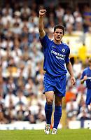 Fotball<br /> England 2005/2006<br /> Foto: SBI/Digitalsport<br /> NORWAY ONLY<br /> <br /> Tottenham v Chelsea<br /> The Barlcays Premiership.<br /> 27/08/2005.<br /> Asier Del Horno celebrates scoring Chelsea's first goal