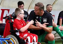 Lee Trundle talks to Oskar Pycroft during the Bristol Fan Derby - Mandatory by-line: Robbie Stephenson/JMP - 04/09/2016 - FOOTBALL - Memorial Stadium - Bristol, England - Bristol Rovers Fans v Bristol City Fans - Bristol Fan Derby