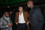 ISAAC JULIEN; JOCHEN ZEITZ; USAIN BOLT, Fundraising Gala for the Zeitz foundation and Zoological Society of London hosted by Usain Bolt. . London Zoo. Regent's Park. London. 22 November 2012.