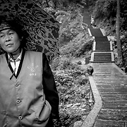 Monkey Police Woman, Baoguo Si, China (May 2004)