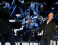 Sting performs with the Royal Philharmonic Concert Orchestra at Bethel Woods Center for the Arts on Friday, July 30, 2010.