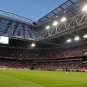 NLD/Amsterdam/20070811 - 12de Johan Cruijff Schaal, Ajax - PSV, Arena stadion, veld met tribune en lampen, verlichting