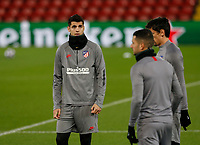 Football - 2019 / 2020 season - Liverpool training & press conference pre-Atletico Madrid<br /> <br /> Alvaro Morata of Atletico Madrid during today's open training session at Anfield ahead of tomorrow's Champions League match against Liverpool, at Anfield.<br /> <br /> COLORSPORT/ALAN MARTIN