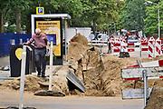 Nederland, Niojmegen, 2-9-2020  In de wijk Brakkenstein wordt het gasnetwerk vervangen. Door de nieuwe buizen kan ook waterstof getransporteerd worden . Foto: ANP/ Hollandse Hoogte/ Flip Franssen