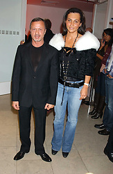 JACQUES AZAGURY and ELLA KRASNER at a cocktail party hosted by MAC cosmetics to kick off London Fashion Week at The Hospital, 22 Endell Street London on 18th September 2005.At the event, top model Linda Evangelista presented Ken Livingston the Lord Mayor of London with a cheque for £100,000 in aid of the Loomba Trust that aims to privide education to orphaned children through a natural disaster or through HIV/AIDS.<br /><br />NON EXCLUSIVE - WORLD RIGHTS