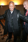 Former Mayors of New York City, David Dinkins and Ed Koch arrive for the Swearing-in of the Honorable David A. Patterson at the 55th Governor of New York  at The New York State Capitol in the Assembly Chambers on March 17, 2008