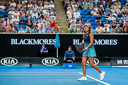January 17, 2019 - Melbourne, VIC, U.S. - MELBOURNE, VIC - JANUARY 17: NAOMI OSAKA (JPN) during day four match of the 2019 Australian Open on January 17, 2019 at Melbourne Park Tennis Centre Melbourne, Australia (Photo by Chaz Niell/Icon Sportswire) (Credit Image: © Chaz Niell/Icon SMI via ZUMA Press)