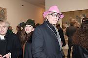 NICK RHODES; ROBERTA HANLEY; CHRIS HANLEY  Mandala for Crusoe, Exhibition of work by Francesco Clemente. Blain/Southern. Hanover Sq. London. 29 November 2012