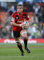 Crusaders lock Brad Thorn on the attack during the Super Rugby Semi-Final match between DHL Stormers and the Crusaders held at DHL Newlands Stadium in Cape Town, South Africa on 2 July 2011...Photo by Shaun Roy / Sportzpics.net