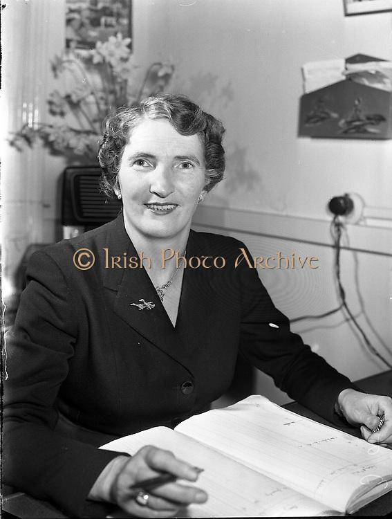 Mrs Christina Reidy, Hotel Manageress, Co Monaghan.04/04/1957
