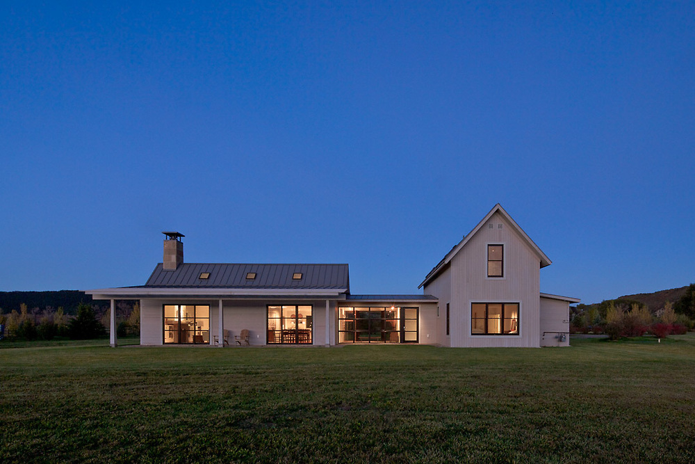A small house designed by Lipkin Warner Design and Planning near Carbondale, Colorado.