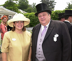 MR & MRS GUY SNOWDEN he was involved in legal action <br /> with Sir Richard Branson over the award of the National Lottery <br /> to Camelot, at Royal Ascot on 20th June 2000.OFN 137<br /> © Desmond O'Neill Features:- 020 8971 9600<br />    10 Victoria Mews, London.  SW18 3PY <br /> www.donfeatures.com   photos@donfeatures.com<br /> MINIMUM REPRODUCTION FEE AS AGREED.<br /> PHOTOGRAPH BY DOMINIC O'NEILL