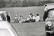 Defence Secretary John Nott and family ( & security) having a picnic in the middle of the Falklands War. June 4 Eton. 1982