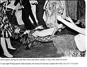 Sasha Squire during the Gosh Ball. Park Lane Hotel. London. 4 May 1983. Film. 83252f9<br />© Copyright Photograph by Dafydd Jones. 66 Stockwell Park Rd. London SW9 0DA. Tel 0171 733 0108