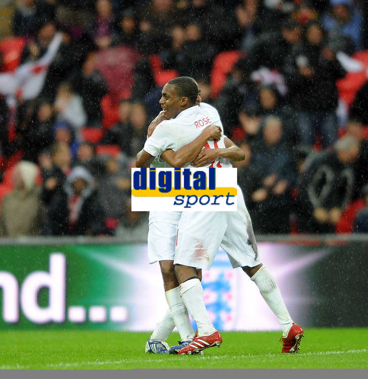 England U21/Portugal U21 European Under 21 Championship 14.11.09 <br /> Photo: Tim Parker Fotosports International<br /> Danny Rose England U21 celebrates 1st goal