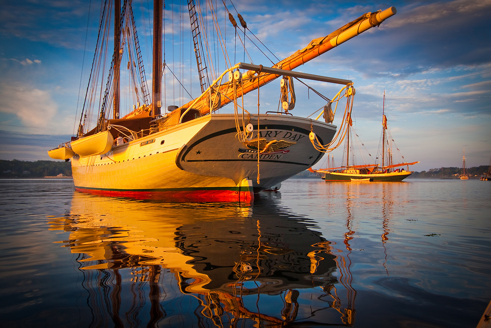 Schooner Mary Day at Dawn after the race