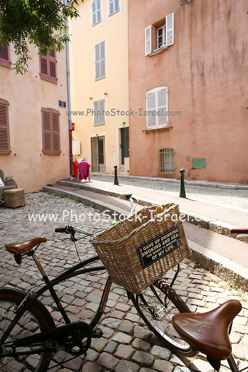bicycles in Saint-Tropez, France