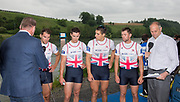 Lucerne, SWITZERLAND, GBR M4X. Bow Jack BEAUMONT and Sam TOWNSEND, Angus GROOM and Greame THOMAS, Silver Medalist.  2016 FISA WCII. Lake Rotsee Lake Rotsee, Sunday, 29/05/2016,<br /> [Mandatory Credit; Peter SPURRIER/Intersport-images]