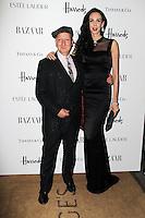 LONDON - OCTOBER 31: Stephen Jones; L'Wren Scott attended the Harper's Bazaar Women of the Year Awards at Claridge's Hotel, London, UK. October 31, 2012. (Photo by Richard Goldschmidt)
