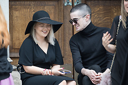 June 30, 2017 - Stockport, Greater Manchester, UK - Stockport , UK . Mourners wait outside the Town Hall ahead of the service . The funeral of Martyn Hett at Stockport Town Hall . Martyn Hett was 29 years old when he was one of 22 people killed on 22 May 2017 in a murderous terrorist bombing committed by Salman Abedi, after an Ariana Grande concert at the Manchester Arena  (Credit Image: © Joel Goodman/London News Pictures via ZUMA Wire)