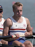 St Catharines, Ontario, CANADA 1999 World Rowing Championships. GBR M8+  stroke, Steve Trapmore. [Mandatory Credit Peter Spurrier Intersport Images] 1999 FISA. World Rowing Championships, St Catherines, CANADA