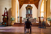 09 JANUARY 2007 - MASAYA, NICARAGUA:  A woman prays in the church in Masaya, Nicaragua.   Photo by Jack Kurtz