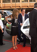 Jemima Khan and Hugh Grant. Billy Elliot- The Musical opening night at the Victoria palace theatre and party afterwards at Pacha, London. 12 May 2005. ONE TIME USE ONLY - DO NOT ARCHIVE  © Copyright Photograph by Dafydd Jones 66 Stockwell Park Rd. London SW9 0DA Tel 020 7733 0108 www.dafjones.com