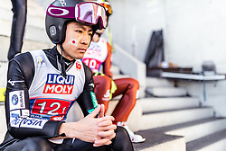 24.02.2019, Bergiselschanze, Innsbruck, AUT, FIS Weltmeisterschaften Ski Nordisch, Seefeld 2019, Nordischen Kombination, Teambewerb, Skisprung, Probesprung, im Bild Akito Watabe (JPN) // Akito Watabe of Japan during the trial jump for the team competition Nordic Combined of FIS Nordic Ski World Championships 2019. Bergiselschanze in Innsbruck, Austria on 2019/02/24. EXPA Pictures © 2019, PhotoCredit: EXPA/ JFK