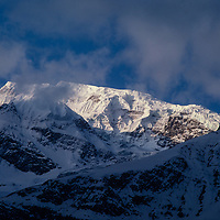 An arm of the Annapurna massif towers over the Manang Valley in Nepal.