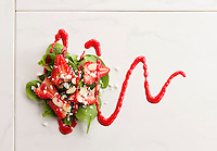 Strawberry spinach side salad and dressing