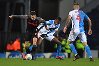 Blackburn Rovers' Tosin Adarabioyo battles with Stoke City's Lee Gregory<br /> <br /> Photographer Dave Howarth/CameraSport<br /> <br /> The EFL Sky Bet Championship - Blackburn Rovers v Stoke City - Wednesday 26th February 2020 - Ewood Park - Blackburn <br /> <br /> World Copyright © 2020 CameraSport. All rights reserved. 43 Linden Ave. Countesthorpe. Leicester. England. LE8 5PG - Tel: +44 (0) 116 277 4147 - admin@camerasport.com - www.camerasport.com