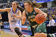 April 4, 2016; Indianapolis, Ind.; Adriana Dent drives the baseline in the NCAA Division II Women's Basketball National Championship game at Bankers Life Fieldhouse between UAA and Lubbock Christian. The Seawolves lost to the Lady Chaps 78-73.
