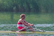 Lucerne, Switzerland. 1995 FISA WC III, Lake Rottsee, Lucerne,<br /> CAN M1X. Derek PORTER.<br /> [Mandatory Credit. Peter SPURRIER/Intersport Images]<br /> <br /> Image scanned from Colour Negative