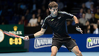 Tennis - 2017 Nitto ATP Finals at The O2 - Day Six<br /> <br /> Group Pete Sampras Singles: Pablo Carreno Busta (Spain) Vs Grigor Dimitrov (Bulgaria)<br /> <br /> Pablo Carreno Busta (Spain) opens his frame in preparation to strike the ball at the O2 Arena <br /> <br /> COLORSPORT/DANIEL BEARHAM