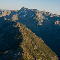 11,217-foot Mount Cowen is the highest peak of Montana's rugged Absaroka Mountains, in Absaroka-Beartooth Wilderness, north of Yellowstone National Park