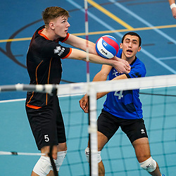 Thomas Sleurink of Talent Team, Nick Martherus of Talent Team in action during the league match Talentteam Papendal vs. Taurus on october 16, 2021 in van der Knaaphal, Ede