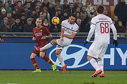 February 3, 2019 - Rome, Italy - Rick Karsdorp, Hakan Calhanoglu during the Italian Serie A football match between A.S. Roma and A.C. Milan at the Olympic Stadium in Rome, on february 03, 2019. (Credit Image: © Silvia Lore/NurPhoto via ZUMA Press)