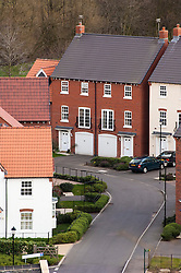 Modern housing development, Mountsorrel, England, UK.
