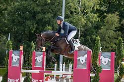 Chitty Alex, GBR, Levi VDL<br /> Nationaal Kampioenschap KWPN<br /> 4 jarigen springen final<br /> Stal Tops - Valkenswaard 2020<br /> © Hippo Foto - Dirk Caremans<br /> 19/08/2020