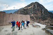 Inca architecture of Ollantaytambo Peru. This ceremonial center showcases some of the best stone masonary work with the placement of 50 ton stoned, polished to perfection.