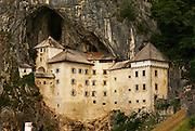 Predjama Castle, a Renaissance castle built within a cave mouth in south-central Slovenia