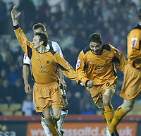 Photo: Dave Linney.<br />Derby County v Wolverhampton Wanderers. Coca Cola Championship. 18/11/2005. Vio Ganea starts is celebratation run after making it 3-0 to Wolves
