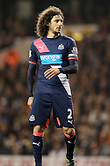 Fabricio Coloccini, Newcastle United captain looks on. Barclays Premier league match, Tottenham Hotspur v Newcastle Utd at White Hart Lane in London on Sunday 13th December 2015.<br /> pic by John Patrick Fletcher, Andrew Orchard sports photography.