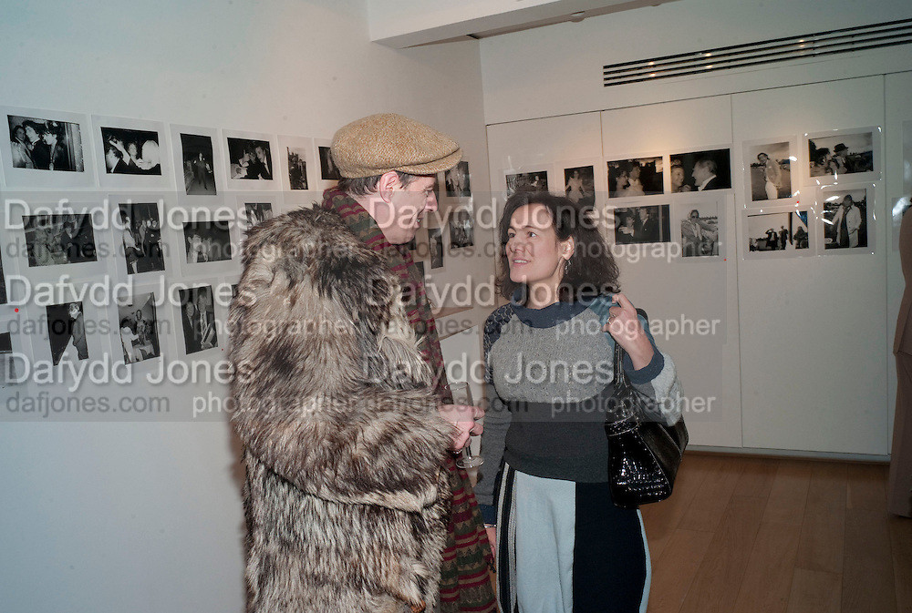 GAZ MAYALL; LILY JOHNSTONE, The Way We Wore.- Photographs of parties in the 70's by Nick Ashley. Sladmore Contemporary. Bruton Place. London. 13 January 2010. *** Local Caption *** -DO NOT ARCHIVE-© Copyright Photograph by Dafydd Jones. 248 Clapham Rd. London SW9 0PZ. Tel 0207 820 0771. www.dafjones.com.<br /> GAZ MAYALL; LILY JOHNSTONE, The Way We Wore.- Photographs of parties in the 70's by Nick Ashley. Sladmore Contemporary. Bruton Place. London. 13 January 2010.