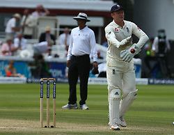 July 8, 2017 - London, United Kingdom - England's Jonny Bairstow .during 1st Investec Test Match Day Three between England and South Africa at Lord's Cricket Ground in London on July 08, 2017  (Credit Image: © Kieran Galvin/NurPhoto via ZUMA Press)