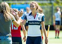 HUIZEN - Eva den Hartog (Huizen)  de eerste play off wedstrijd voor promotie naar de hoofdklasse , Huizen-Nijmegen (3-2) COPYRIGHT KOEN SUYK
