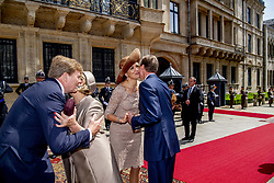 King Willem-Alexander and Queen Maxima of The Netherlands with Grand Duke Henri and Grand Duchess Maria Teresa during a official farewell ceremony at the Grand Ducal Palace in Luxembourg, 25 May 2018. The Dutch King and Queen are in Luxembourg for an three day state visit. Photo by Robin Utrecht/ABACAPRESS.COM
